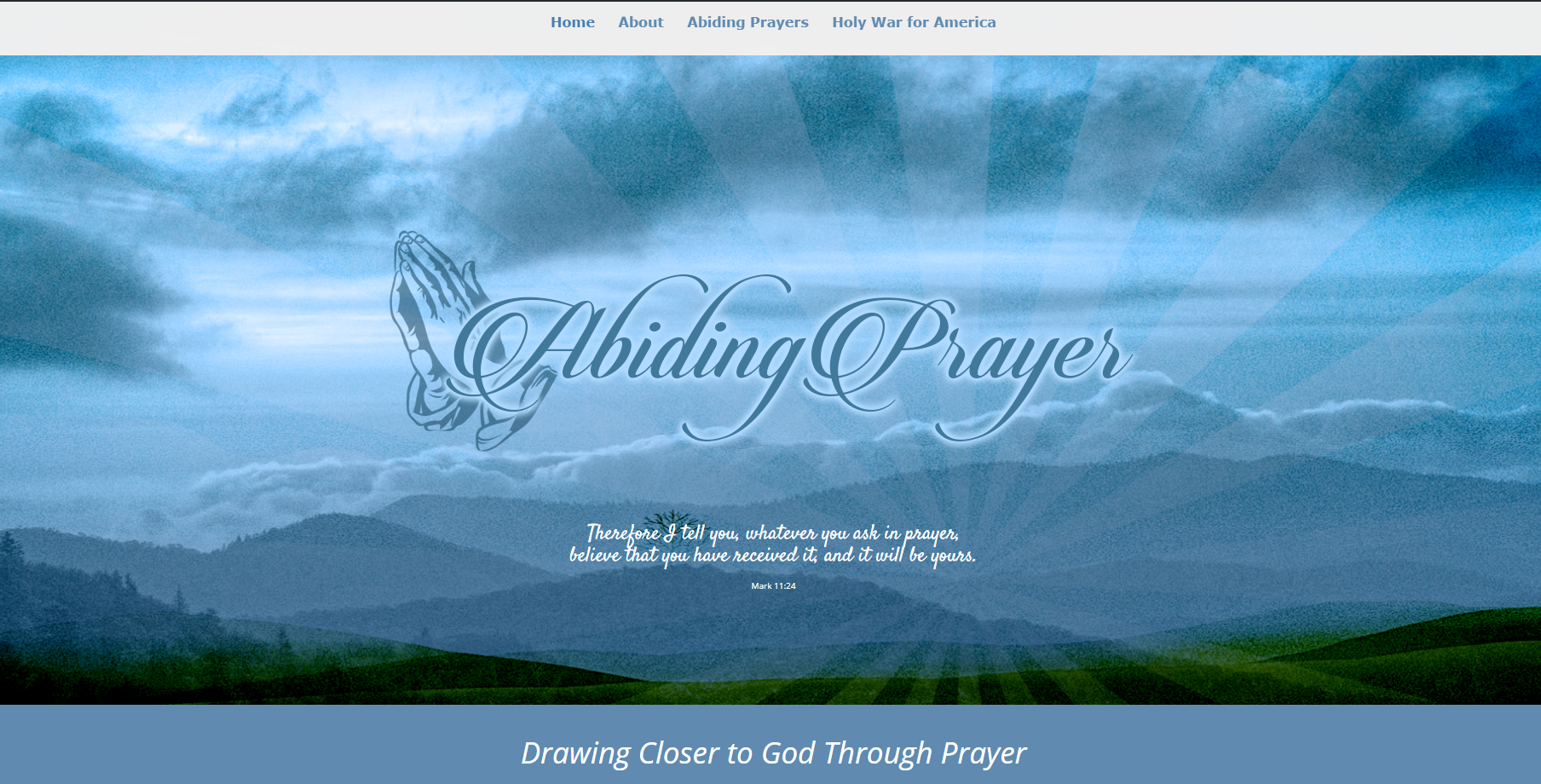 Abiding Prayer Design