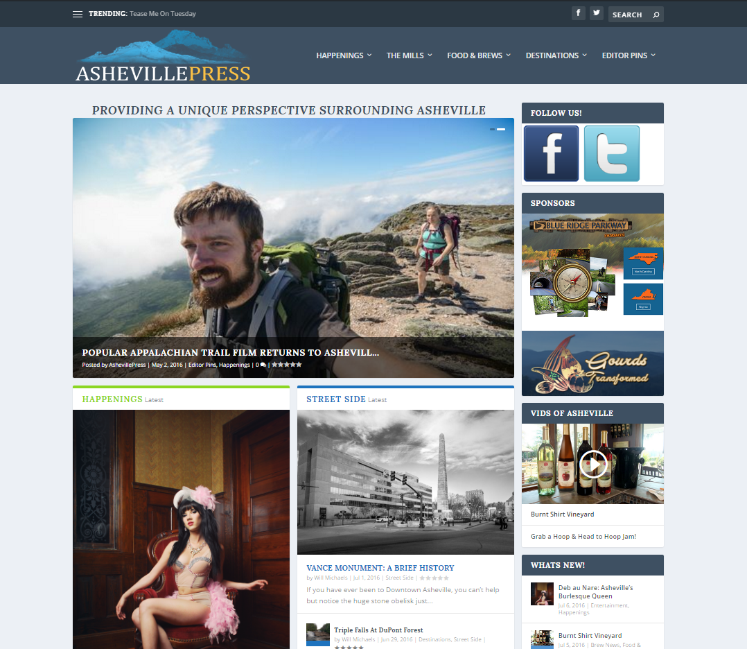 Asheville Press Web Design