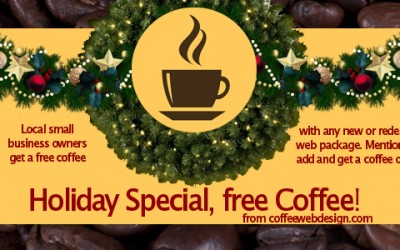 Web Site Holiday Special – Free coffee!