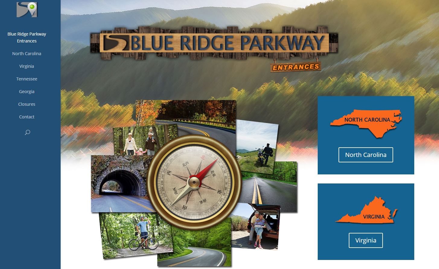 Blue Ridge Parkway Entrances