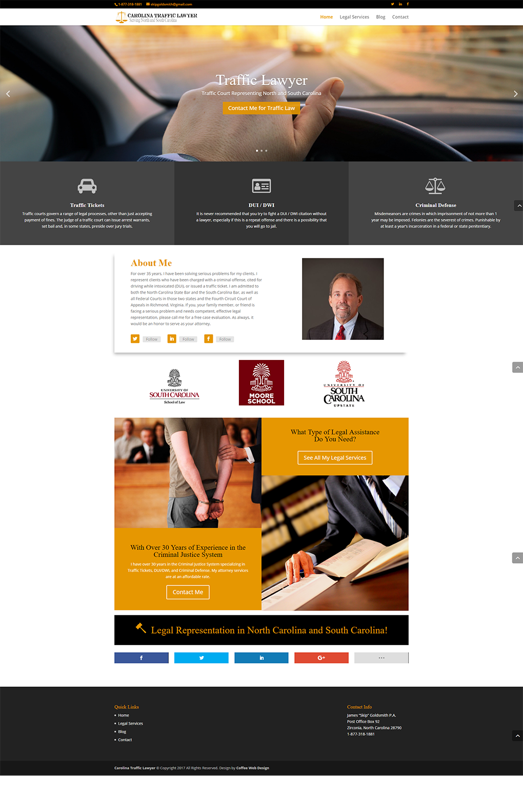 Carolina Traffic Lawyer Design